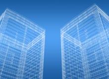 De blauwdruk van gebouwen stock illustratie