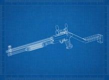 De blauwdruk van de geweerarchitect stock illustratie