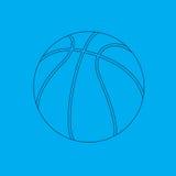 De blauwdruk van het basketbal Royalty-vrije Illustratie