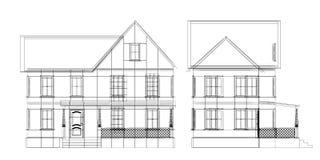De blauwdruk van het huis royalty-vrije illustratie