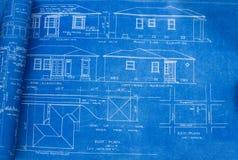 De Blauwdruk van het Huis van het midden van de eeuw Royalty-vrije Stock Afbeelding