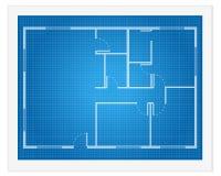 De blauwdruk van het huisplan Stock Fotografie