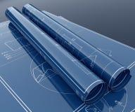De blauwdruk van het technologieproject Stock Fotografie