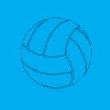De blauwdruk van het volleyball. Stock Illustratie