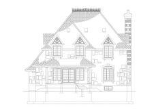 De blauwdruk van de huisarchitect stock illustratie