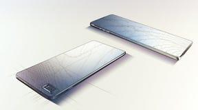 De Blauwdruk van Smartphone Stock Foto