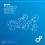 De blauwdrukachtergrond van toestellen. Vector. Stock Foto's
