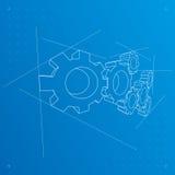 De blauwdrukachtergrond van toestellen. Vector. Royalty-vrije Stock Afbeelding