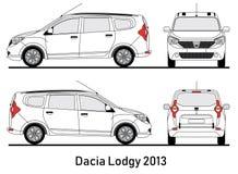 De blauwdrukillustratie van Dacia Lodgy 2013 Vector Illustratie