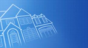 De blauwdrukken van het huis Stock Foto's