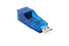 De blauwe Aandrijving van de Flits USB stock foto's