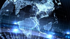 De blauwe Aarde geroteerde lijn van nieuwsintro stock illustratie