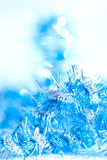 De blauwe abstracte achtergrond van de Kerstmisdecoratie Royalty-vrije Stock Foto