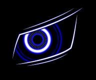De blauwe abstracte achtergrond van de oogtechnologie Stock Fotografie