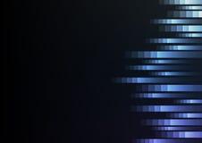 De blauwe abstracte achtergrond van de pixelsnelheid Royalty-vrije Stock Afbeeldingen