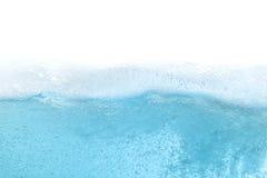 De blauwe abstracte achtergrond van de watergolf Stock Foto