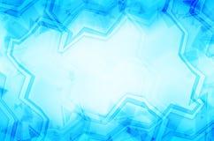 De blauwe abstracte achtergrond van het kunstkader Royalty-vrije Stock Fotografie