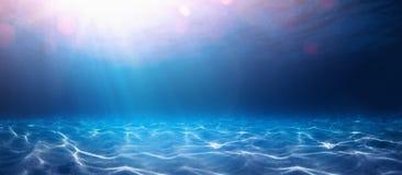 De blauwe Abstracte Achtergrond van het Water royalty-vrije stock fotografie
