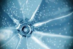 De blauwe abstracte achtergrond van de toon spiraalvormige vorm royalty-vrije stock afbeeldingen