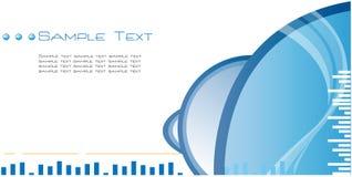 De Blauwe Abstracte Achtergrond van uitstekende kwaliteit van het Malplaatje Stock Fotografie