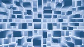 De blauwe abstracte achtergrond van Vierkanten Stock Afbeeldingen