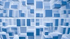 De blauwe abstracte achtergrond van Vierkanten Royalty-vrije Stock Foto's