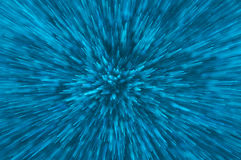 De blauwe abstracte explosie steekt achtergrond aan Royalty-vrije Stock Afbeeldingen