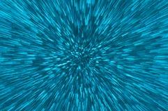 De blauwe abstracte explosie steekt achtergrond aan Stock Fotografie