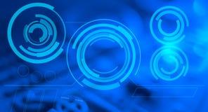 De blauwe abstracte futuristische achtergrond van HUD Stock Afbeelding