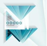 De blauwe abstracte geometrische achtergrond van de driehoeksvorm Royalty-vrije Stock Afbeeldingen