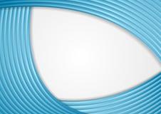 De blauwe abstracte golvende achtergrond van conceptenstrepen Stock Foto's