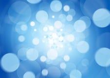 De blauwe abstracte lichte achtergrond defocused Royalty-vrije Stock Afbeelding