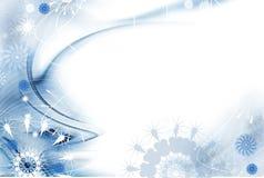 De blauwe abstractie van Kerstmis Royalty-vrije Stock Afbeeldingen