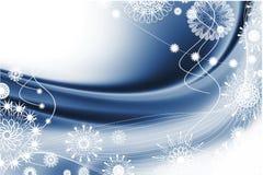 De blauwe abstractie van Kerstmis Stock Foto's
