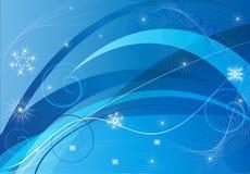 De blauwe abstractie van Kerstmis Royalty-vrije Stock Afbeelding