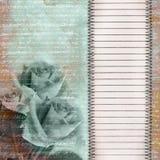 De blauwe achtergrond van de aantrekkingskracht met blad voor ontwerp Stock Afbeeldingen