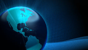 De Blauwe Achtergrond van de aardegloed Stock Foto's