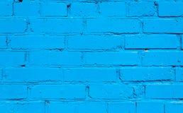 De blauwe Achtergrond van de Bakstenen muur Stock Foto