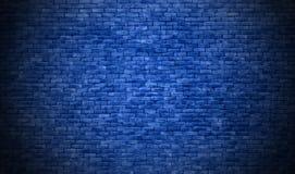 De blauwe achtergrond van de bakstenen muurtextuur royalty-vrije stock afbeelding