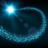 De blauwe achtergrond van de deeltjessleep Stock Foto's