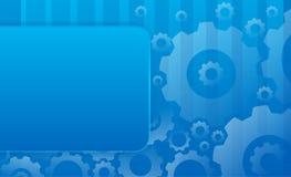 De blauwe achtergrond van de fabriek Royalty-vrije Stock Foto
