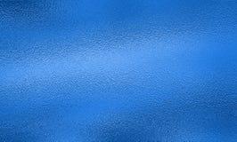 De blauwe achtergrond van de folietextuur Royalty-vrije Stock Foto