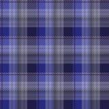 De blauwe achtergrond van de geruit Schots wollen stofplaid Stock Afbeeldingen