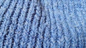 De blauwe achtergrond van de kledingsstof Royalty-vrije Stock Foto's