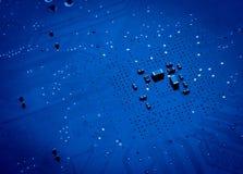 De blauwe achtergrond van de kringsraad van computer Stock Foto's