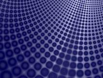 De blauwe Achtergrond van de Kromme van Cirkels Royalty-vrije Stock Afbeeldingen