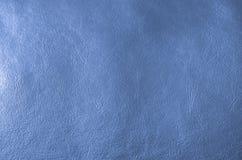De blauwe achtergrond van de leertextuur Royalty-vrije Stock Foto's