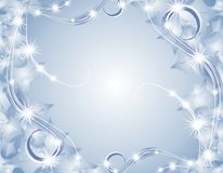 De blauwe Achtergrond van de Lichten van Kerstmis Fonkelende Stock Foto's