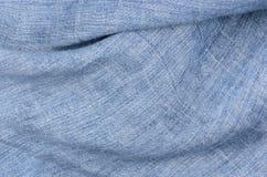 De blauwe achtergrond van de linnentextuur Royalty-vrije Stock Foto