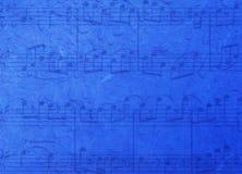 De blauwe achtergrond van de muziek Royalty-vrije Stock Foto's